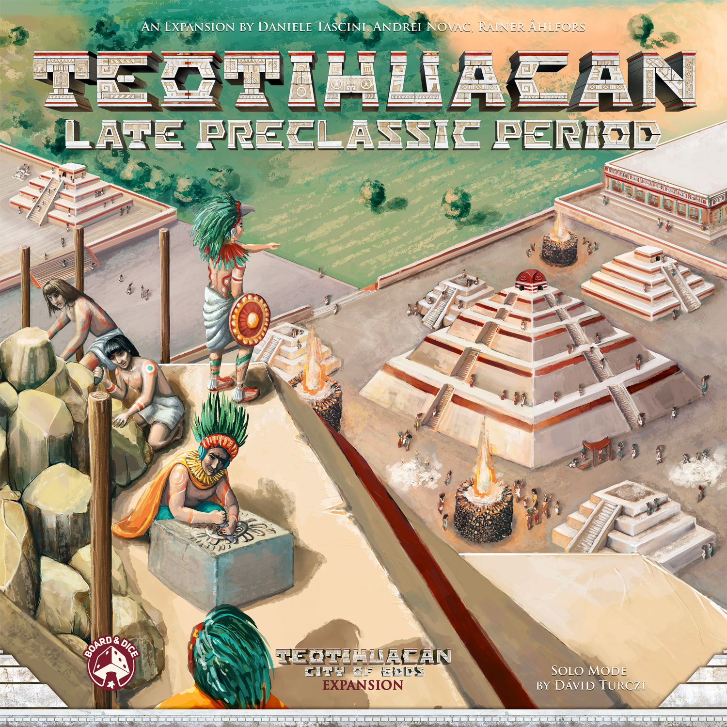 Teotihuacan Late Preclassic Period Expansion -  Board And Dice